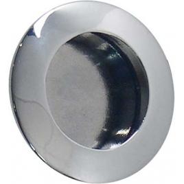 Bouton chromé à encastrer Ø 40 mm