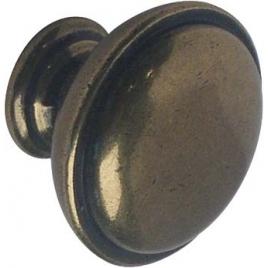 Bouton bronze en zamac Ø 30 mm