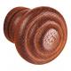 Bouton brun foncé en frêne
