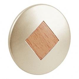 Bouton rond avec losange en bois Ø 30 mm