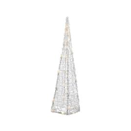Pyramide illuminée LED en acrylique DECORIS - Blanc chaud - 15 x 15 x 58 cm