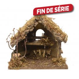 Crèche de Noël en bois 30 x 18 x 26 cm DECORIS