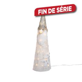 Père Noël en acrylique LED LUMINEO - 16 x 16 x 49 cm