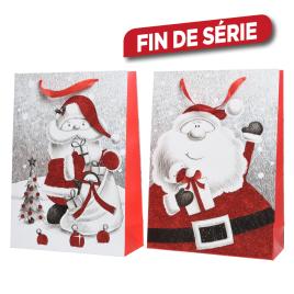Sac cadeau de Noël en papier DECORIS - 26 x 10 x 32 cm