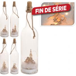 Suspension bouteille en verre avec maquette