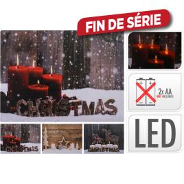 Tableau de Noël LED 40 x 30 cm