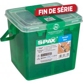 Cale de montage avec vis pour terrasse en bois SPAX