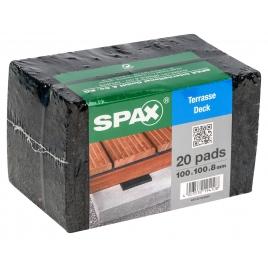 Tampon d'isolation pour terrasse 20 pièces SPAX
