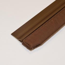 Bas de porte rigide adhésif avec textile 100 cm CONFORTEX - Brun