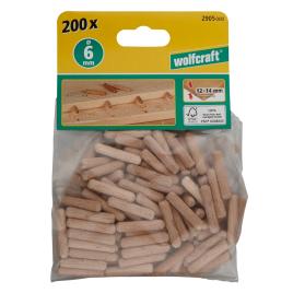 Tourillons de 30 mm en bois de hêtre Ø 6 mm WOLFCRAFT