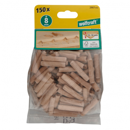 Tourillons de 40 mm en bois de hêtre WOLFCRAFT