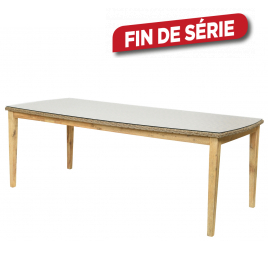Table de jardin Marseille 220 x 100 x 76 cm