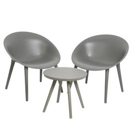 Ensemble de jardin Marbella : 1 table et 2 fauteuils