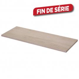 Panneau mélaminé Chêne Blanchi 80 x 30 x 1,8 cm CANDO
