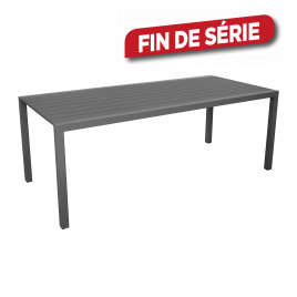 Table de jardin Dina grise 200 x 90 x 74 cm