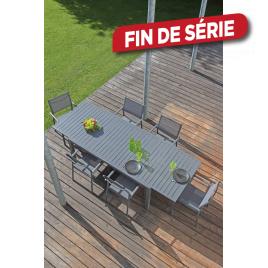 Ensemble de jardin Solem : 1 table et 6 fauteuils