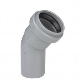 Coude pour sanitaire avec joints M/F - 32 mm - 45°