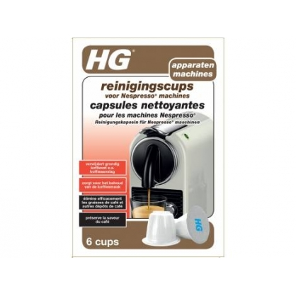 Capsules nettoyantes pour machine Nespresso 6 pièces HG