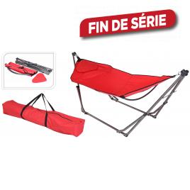 Hamac pliant rouge 210 x 88 cm