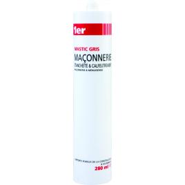 Mastic de maçonnerie 280 ml MR BRICOLAGE - Gris
