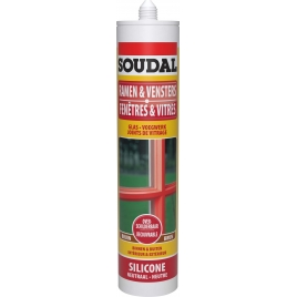 Silicone pour vitrage brun 300 ml SOUDAL
