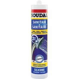 Silicone pour sanitaire express 300 ml SOUDAL