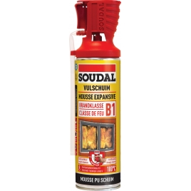 Mousse PU résistante au feu 500 ml SOUDAL