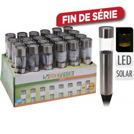 Lampe de jardin solaire LED Ø 4,5 x 33 cm