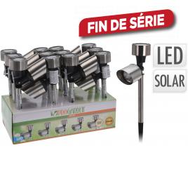 Lampe de jardin solaire avec spot LED Ø 5,5 cm