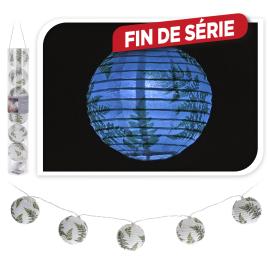 Guirlande de lanternes en papier LED