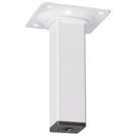 Pied de meuble carré blanc 2,5 x 2,5 x 10 cm