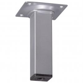 Pied de meuble carré aluminium 2,5 x 2,5 x 10 cm