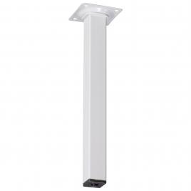 Pied de meuble carré blanc 2,5 x 2,5 x 25 cm
