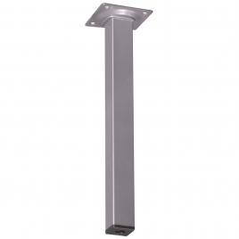 Pied de meuble carré aluminium 2,5 x 2,5 x 25 cm