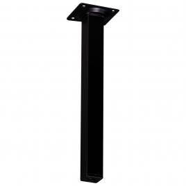 Pied de meuble carré noir 2,5 x 2,5 x 25 cm