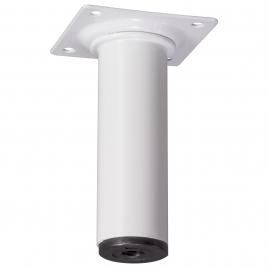 Pied de meuble rond blanc Ø 3 x 10 cm