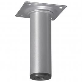 Pied de meuble rond aluminium Ø 3 x 10 cm