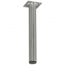 Pied de meuble rond aluminium Ø 3 x 25 cm
