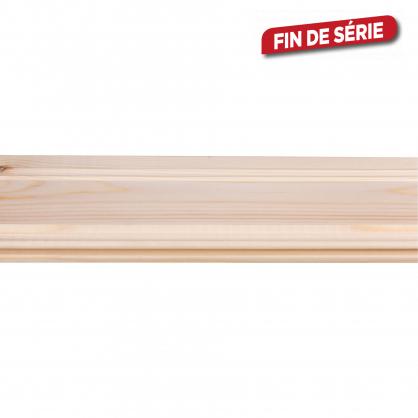 Lambris en bois de pin Perle Rustique 210 x 11 x 1,4 cm 5 pièces CANDO