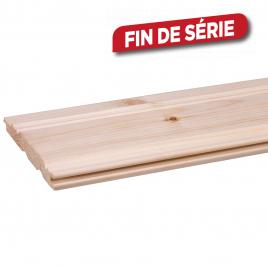 Lambris en bois de pin Perle Rustique 270 x 11 x 1,4 cm 5 pièces CANDO