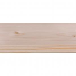 Lambris en bois de sapin blanc 270 x 13,2 x 1,2 cm 5 pièces CANDO