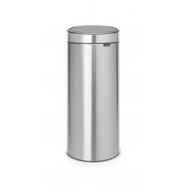 Poubelle Touch Bin 30 L gris métallique BRABANTIA