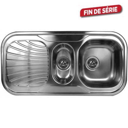 Évier de cuisine à encastrer 1 bac + 1/2 VAN MARCKE