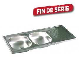 Évier de cuisine à poser 2 bacs 120 x 50 cm ISIFIX