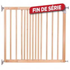 Barrière de sécurité réglable en bois Lucas 75,6 à 110,4 cm
