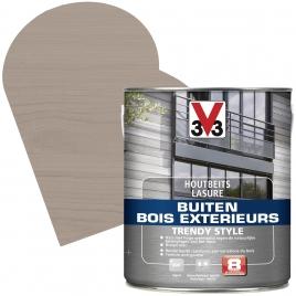 Lasure pour bois extérieur Trendy Style gris argenté 2,5 L V33