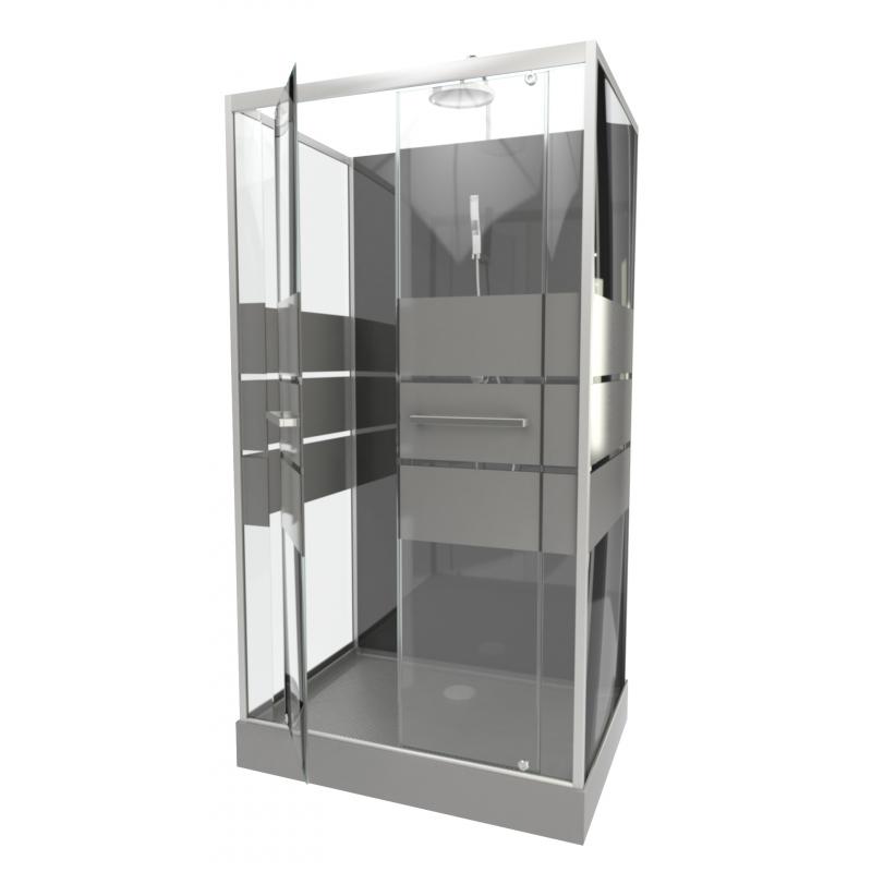 Cabine de douche study 110 110 x 80 x 235 cm aurlane - Cabine de douche aurlane ...