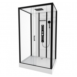 Cabine de douche Urban rectangle 90 x 115 x 215 cm AURLANE