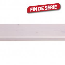 Lambris en bois de sapin blanc 270 x 11 x 1,3 cm 5 pièces CANDO