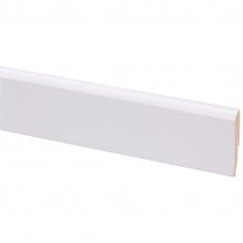 Plinthe de parquet revêtue blanc 240 x 6,8 x 1,2 mm CANDO